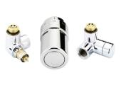 Danfoss Fühlerelemente X-tra Collection Design-Armaturen-Set links Chrom