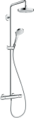 Hansgrohe Croma Select S Showerpipe 180 2jet EcoSmart 9 l/min mit Thermostat