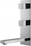 Varono Waschtisch Zweihebelmischbatterie m.Einbaukörper Wand Serie-22