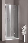 Hüppe Aura elegance 4-ECK Schwingtür mit festen Segmenten in Nische