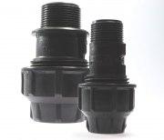 PLASSIM Kupplung mit Außengewinde für PE-Rohre