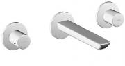 HANSALIGNA  Fertigmontageset  Waschtisch-Wandbatterie für Wandeinbau, DN 15