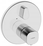 HANSALIVING  Fertigmontageset mit Funktionseinheit  Wannen-Thermostat-Batterie, DN 15 (G 1/2) rund eigensicher