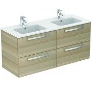 Ideal Standard Eurovit Plus Doppelwaschtisch-/ Möbelpaket 1200 mm