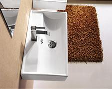 Hängende Waschbecken